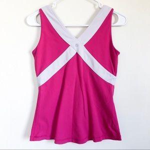 lululemon athletica   pink tank top w shelf bra